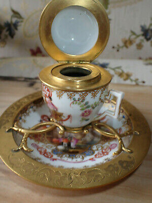 Beautiful Unique 18th-century Meissen Ink Well, Superb Condition • 299£