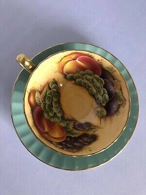 Aynsley Orchard Gold Fruit Cup And Saucer  • 21£