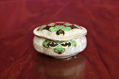 Vintage Plant Art Deco Tuscan China Trinket Box Made In England • 16£