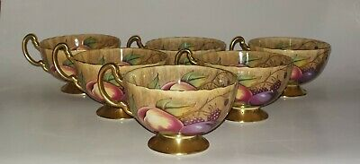 Aynsley Orchard Gold Pattern Set Of Six Tea Cups. • 21£