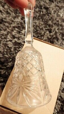 Vintage Crystal Glass Bell 13cms • 0.99£