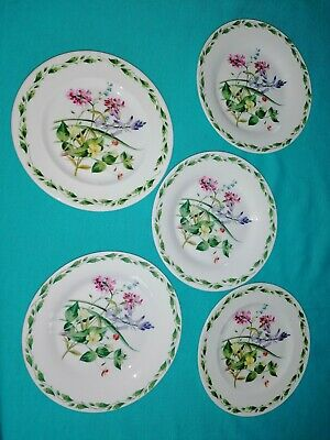 RHS Queens The GARDEN BY LILLIAN SNELLING 5 X  6.5  Tea Plates VGC • 17.50£
