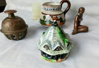 Collection Of Oddments Torquay Jug Nude Lady Owl Brass Bell China House • 2.90£