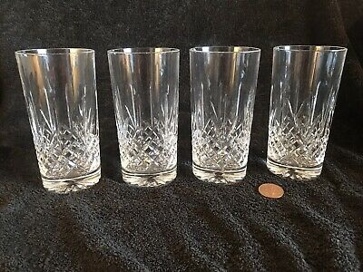 Four Vintage Echt Bleikristall Tumblers In 24% Crystal • 5.99£