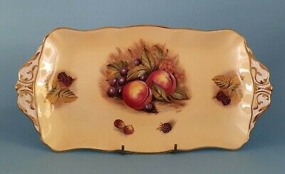 Aynsey Orchard Gold Pattern Oblong Tray/dish. • 4.99£