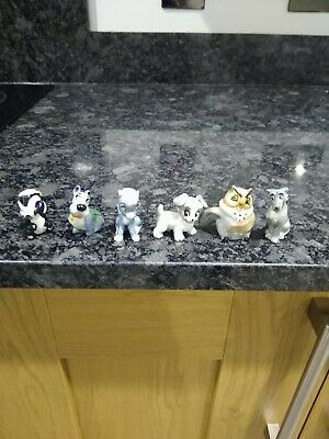 Wade Whimsies Lady And The Tramp Hat Box Series - 6 Figurines (2) • 12.50£