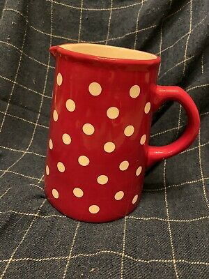 Laura Ashley Large Red And White Spotty Jug • 5£
