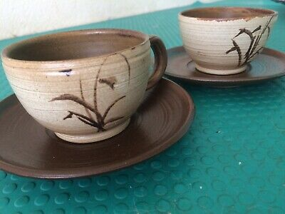 OLD FORGE POTTERY Coffee Cups And Saucers • 3.80£