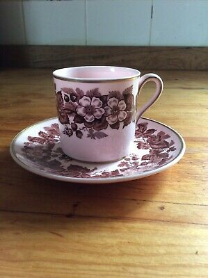 Wedgewoo Alpine Pink Coffee Can And Saucer • 25£