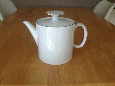 Thomas Germany White With Silver Rim Teapot • 17£