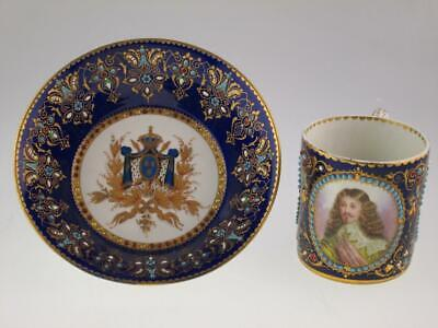 Rare Antique French 18th Century Sevres Porcelain Cup Saucer King Louis XIII • 1,850£