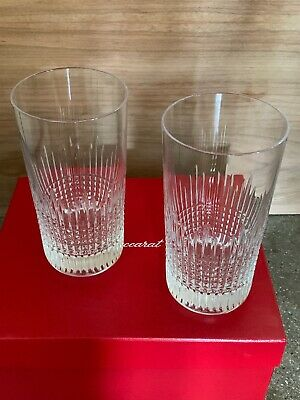 BACCARAT Glasses NANCY HIGHBALL 140 X2 2811579 • 240.65£