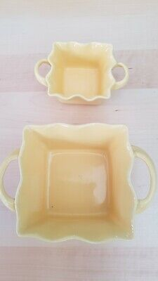 Bia Yellow Pottery Fluted Handled Bowls • 5.99£