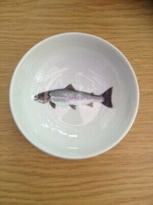Jersey Pottery Dipping Bowl, Sea 11cm, Trout, Brand New • 7£