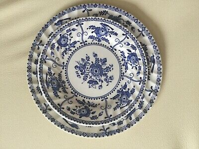 "Johnson Brothers "" Indies "" Blue & White Plates 24 Pieces • 65£"