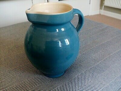 Rare Vintage C H Brannam 3 & 1/2 Pint Blue Jug / Pitcher In Good Condition • 13.95£