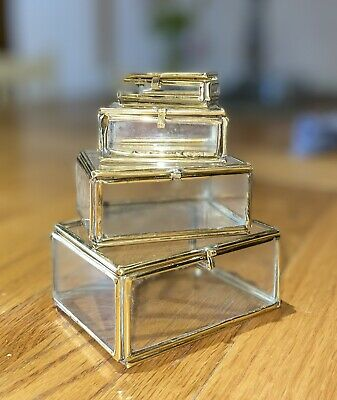 Set Of 4 Clear Glass Boxes, Which All Fit Inside Each Other. 50 Sets Available. • 0.50£