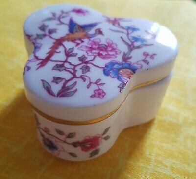 Hammersley Fine Bone China Bird Of Paradise Trinket Box • 2.50£