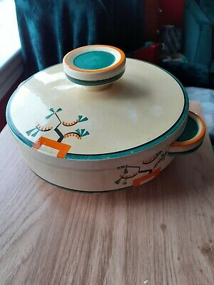 1930s Clarice Cliff Bizarre Serving Dish With Lid • 28.13£