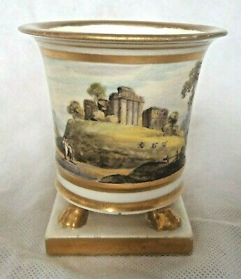 Fine Early 19th Century Spode / Ridgway? Spill Vase Classical Landscape • 90£
