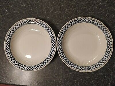 2 X Dessert/cereal Bowls  Adams Brentwood Pattern Ironstone China • 6.99£