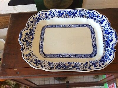 Corona Ware Blue And White Meat Platter Stoke On Trent  Rd No 691032 • 22£