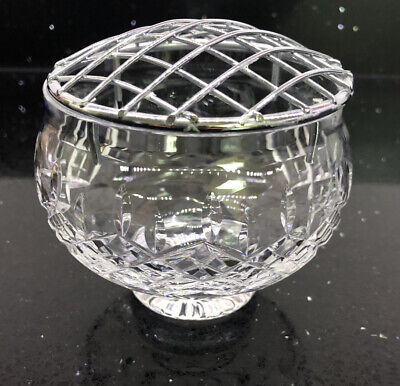 Cut Glass Crystal, Rose/posy Bowl With Mesh • 5£