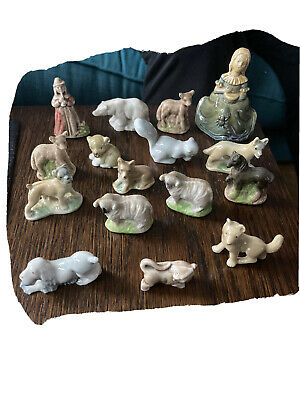 16 Rare Collectable Vintage Early Wade Whimsies Includes Rare Minikins Bull • 20£