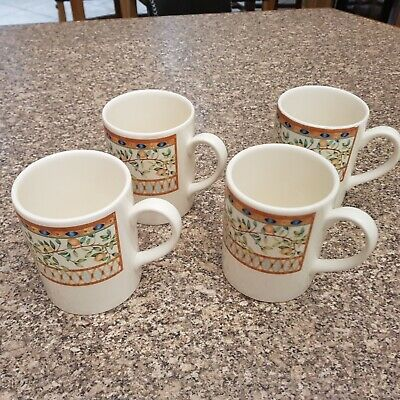 Johnson Brothers Tesco Lemon Tree Pattern Mugs X 4 • 15£
