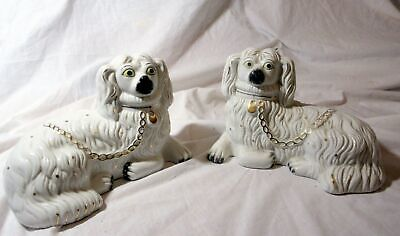 A Pair Of Vintage Staffs Ceramic Wally Dugs - Dogs • 18.50£