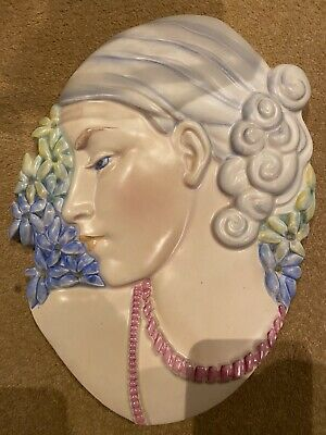 Beswick Lady With Beads / Hyacinth Girl Wall Plaque • 150£