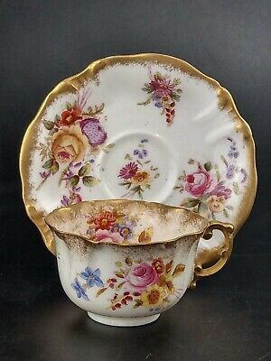 Hammersley Dresden Sprays Tea Cup And Saucer Pattern 89921 • 32£