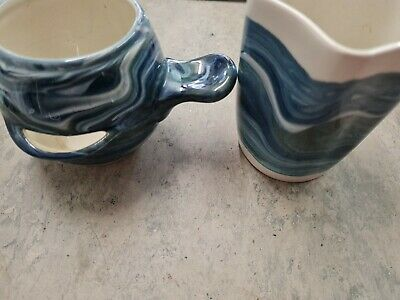 Isle Of Lewis Pottery Cup And Small Vase • 5.50£