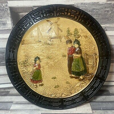 Bretby Pottery Vintage Oriental Chinoserie Wall Plate/Plaque - Number 3928 GC • 24.50£
