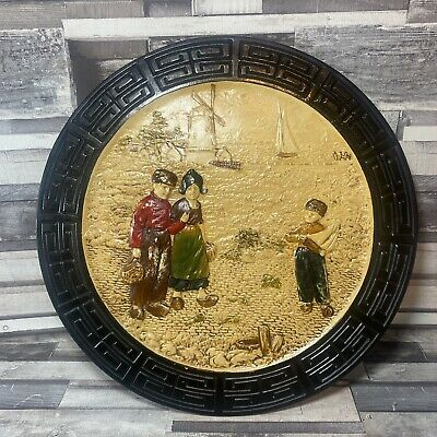 Bretby Pottery Vintage Oriental Chinoserie Wall Plate/Plaque - Number 3927 GC • 24.50£