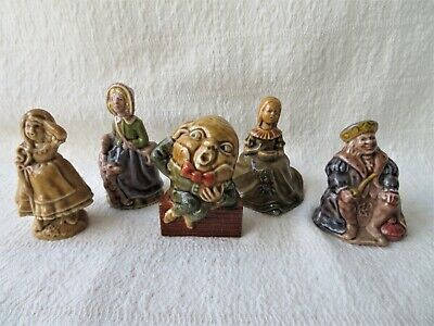 Job Lot 5 Vintage Wade Figures, Humpty, Old King Cole, Mary, Muffet, Bo Peep • 32£