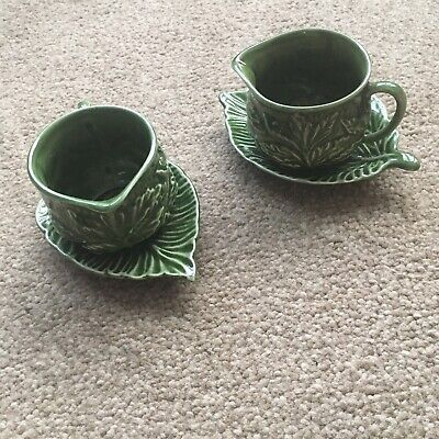 2 X Vintage SylvaC Mint Sauce Jugs And Saucers All Items In Excellent Condition  • 10£