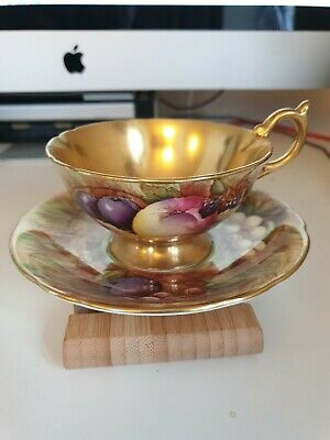 Aynsley Orchard Gold Cup And Saucer • 36£