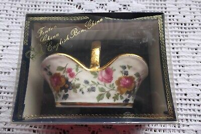 Fenton Bone China Basket • 5.95£