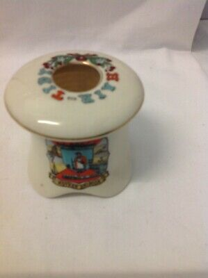 Crested China, Hair-tidy With Lid , Crest Mother Shipton • 3.50£