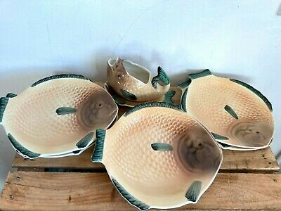 Shorter And Son Fish Plates X 6 And Sauce Boat • 45£