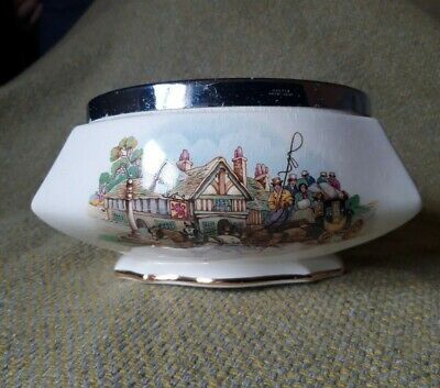 Vintage Royal Winton Grimswades Happy Days Old English Coaching Days Salad Bowl • 7.99£