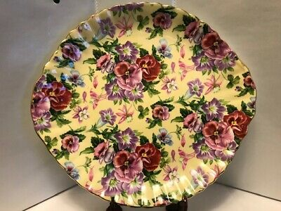 Royale Garden Staffordshire Chintz Collection Plate 10.3 X 9.8 .-C25.00 • 18.41£