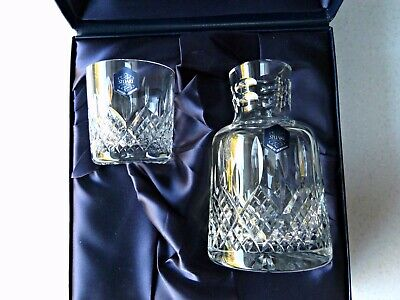 Stuart Lead Crystal Boxed Set - Hand Cut Spirit Decanter And Glass • 35£