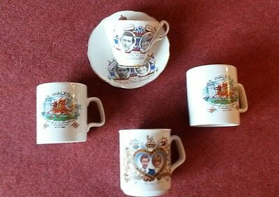 Charles And Diana Commemorative  Mugs/cup And Saucer • 8£