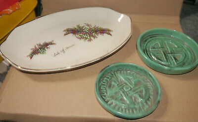 Skye Pottery Dishes And Isle Of Arran Dish • 10£