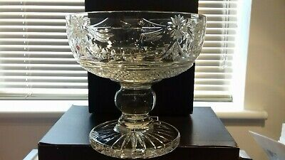 STUART CRYSTAL BEACONSFIELD 20cm FOOTED BOWL • 89£