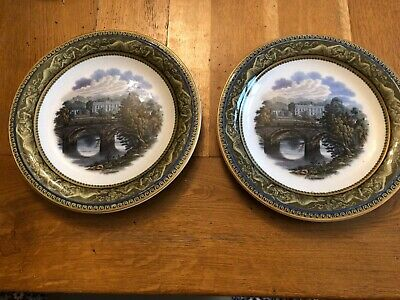 2 Collectible Antique Chatsworth Prattware Plate 1850s British Pottery Gift Art • 34.99£