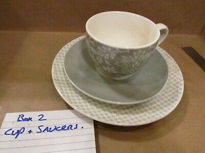 Laura Ashley Grey Cup, Saucer & Plate • 15£