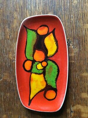 Vintage 1970s Poole Pottery Delphis Plate Signed No.361 • 15£